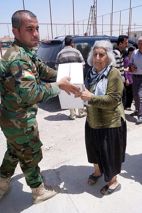 Peshmerga soldaduak.