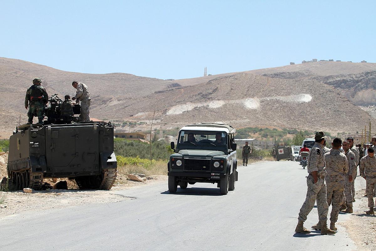 Libanoko soldaduak, Arsal herritik gertu.