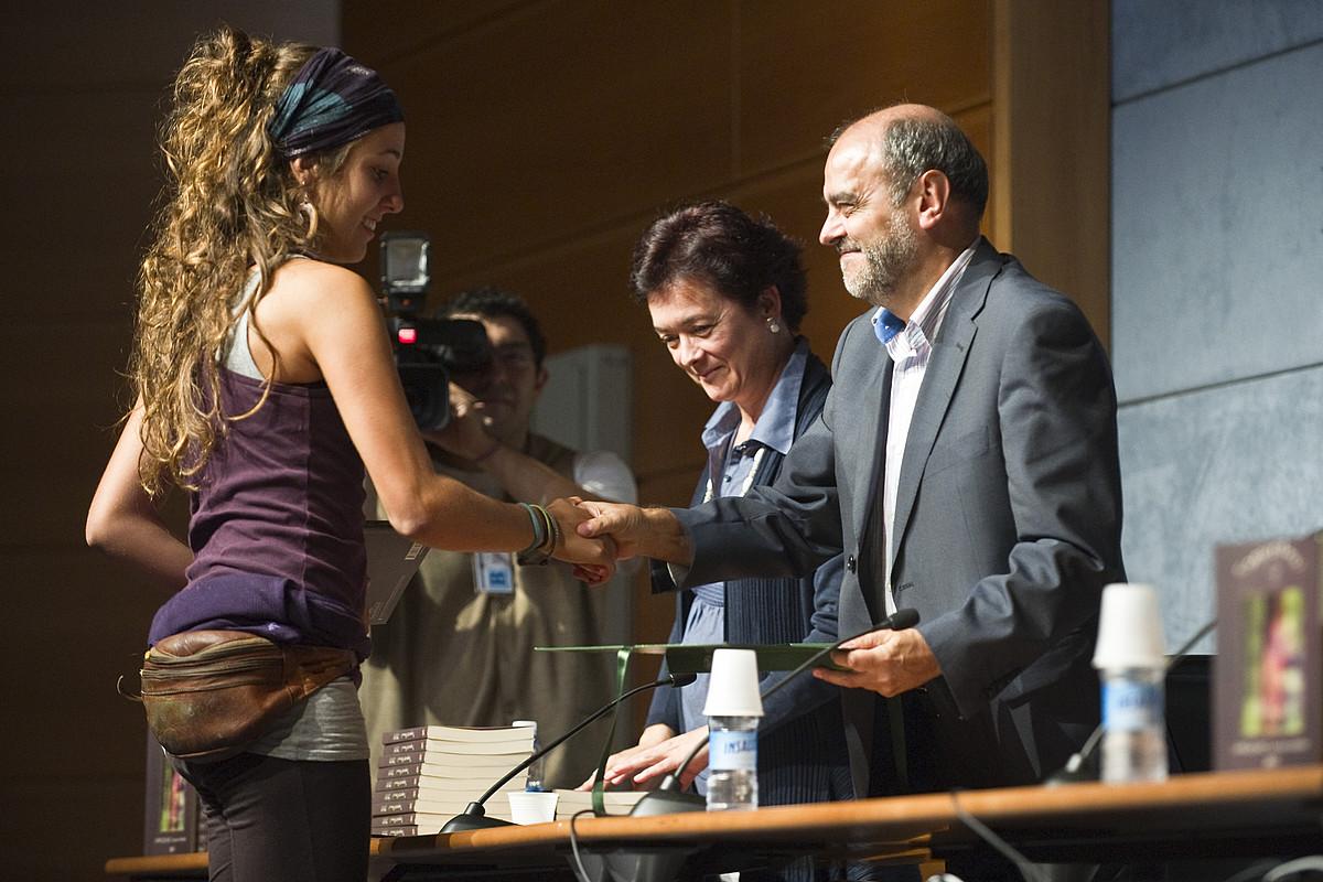 Duela hiru urteko Urruzuno sarien banaketa ekitaldia, Gasteizen. ©JUANAN RUIZ / ARGAZKI PRESS