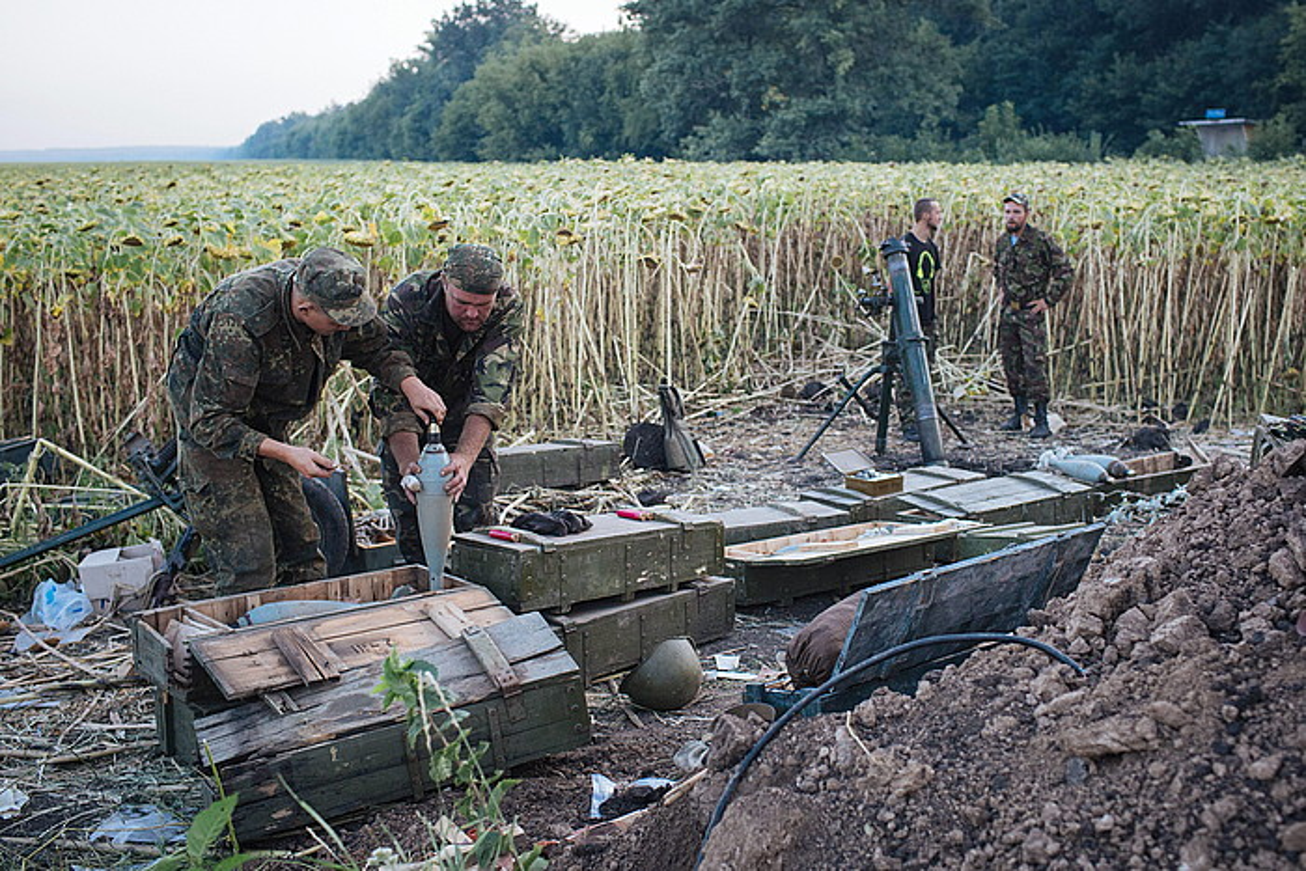 Kieveko soldaduak, ekialdean.