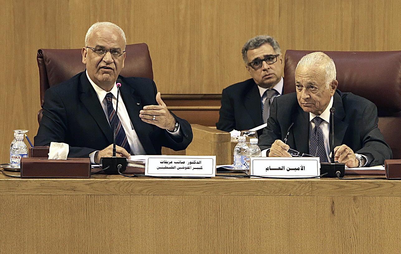 Palestinako ordezkariak Kairoko negoziazioetan.