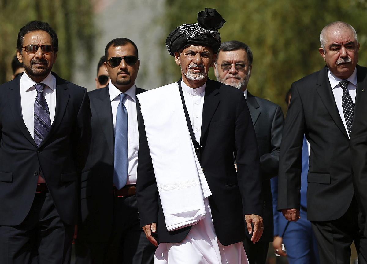 Axraf Ghani Afganistango presidentea, atzo, kargua hartzeko ekitaldian, Kabulen.