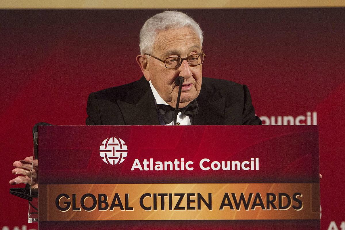 Henry Kissinger, Kontseilu Atlantikoaren Herritar Globalaren Sariko ekitaldian, duela hamar egun.