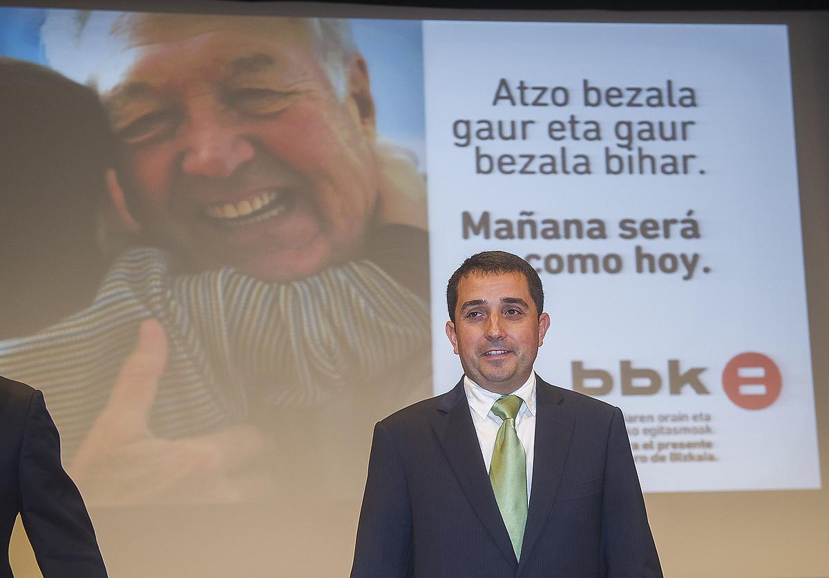 Xabier Sagredo BBK-ko lehendakaria.