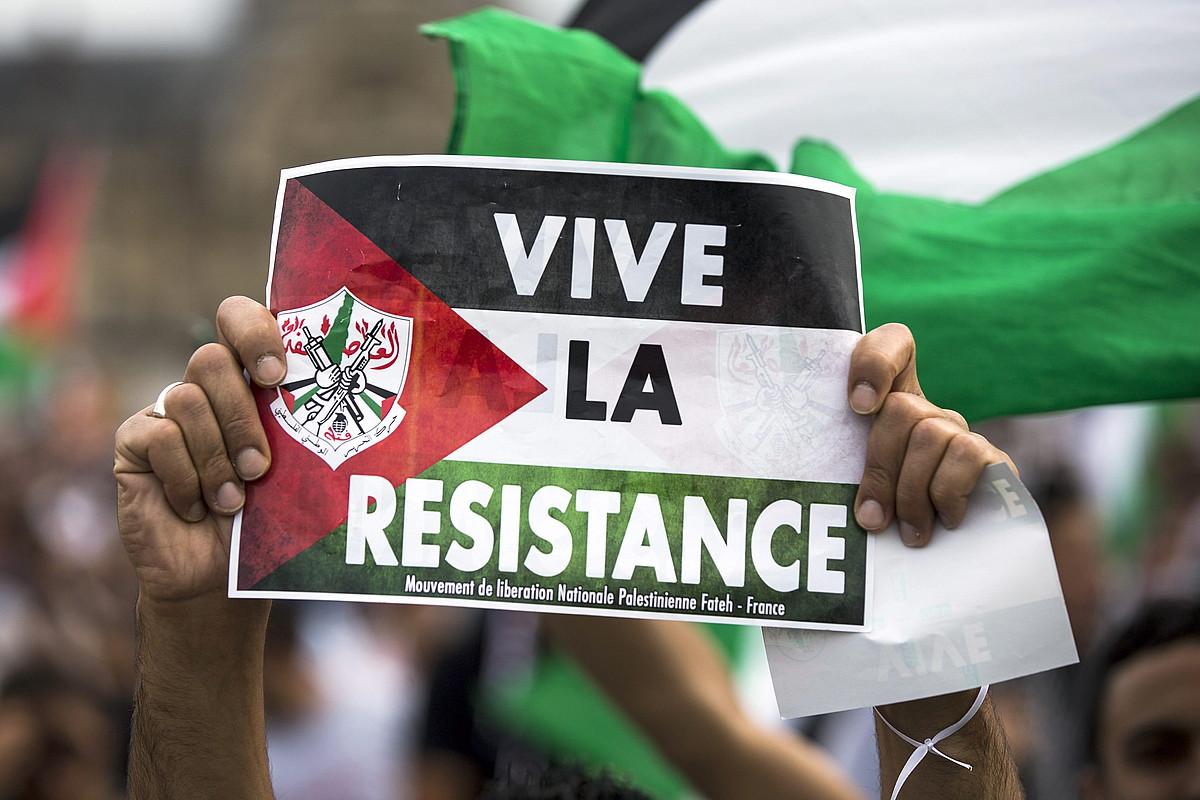 Udan Palestinaren alde egin zuten protesta bat, Parisen.