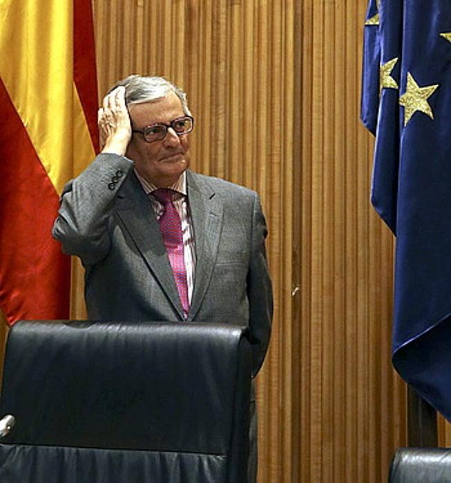 Eduardo Torres-Dulce Espainiako fiskal nagusi ohia, Kongresuko agerraldi batean.