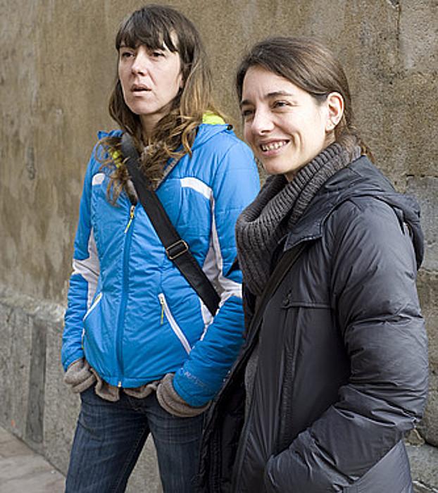 Aurore Martin eta Haizpea Abrisketa, duela egun batzuk, Baionan. ©BERRIA