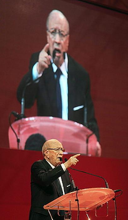 Beji Caid Essebsi, hauteskundeak irabazteko faboritoa.
