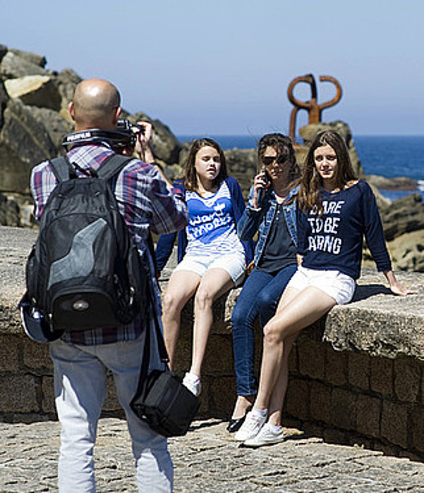 Turistak Donostian.