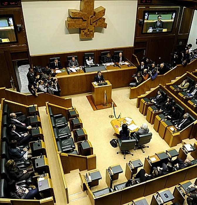 <b>Eusko Legebiltzarra, Iñigo Urkulluren inbestidura saioan, 2012ko abenduaren 13an.</b> / JUANAN RUIZ / ARGAZKI PRESS