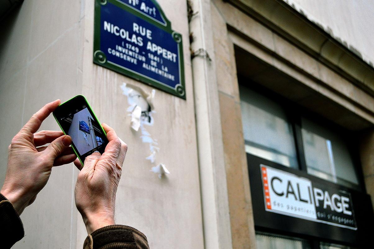 Nicolas Appert kalean dago <em>Charli Hebdo</em>-ren egoitza. &copy;PERU IPARRAGIRRE