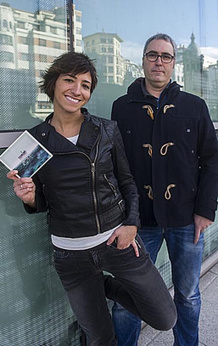 Naroa Gaintza eta David Nanclares, diskoaren aurkezpenean.
