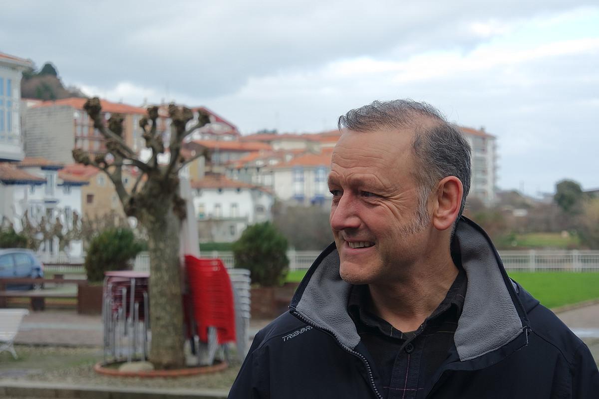 Roberto Uriarte, EAEko Podemos Ahal Dugu-ko idazkari nagusia, duela bi aste, Bilbon. / BERRIA