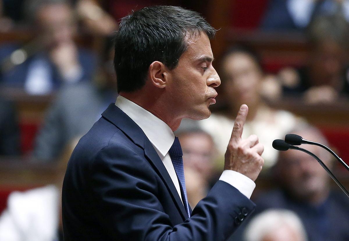 Manuel Valls, Frantziako Asanblea Nazionalean egindako hitzaldi batean. ©IAN LANGSDON / EFE
