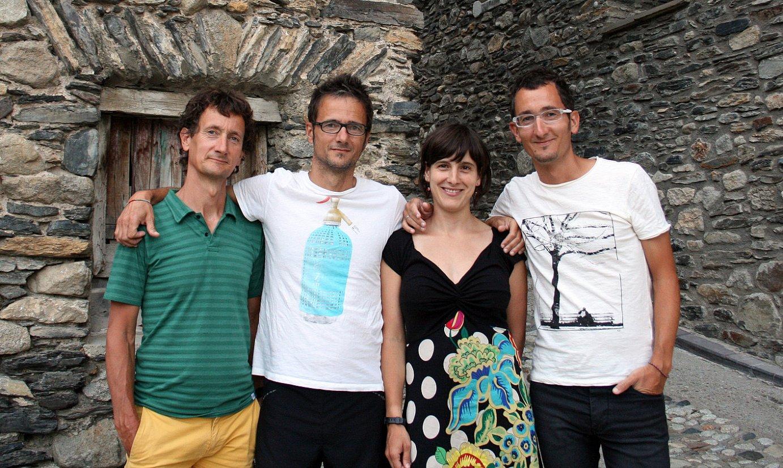 Migel Zeberio, Juantxo Zeberio, Miren Zeberio eta Xabier Zeberio, Benasque aldean. / BERRIA