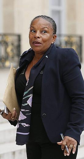 Christiane Taubira Frantziako Justizia ministroa, artxiboko irudi batean. / Y. V. / EFE