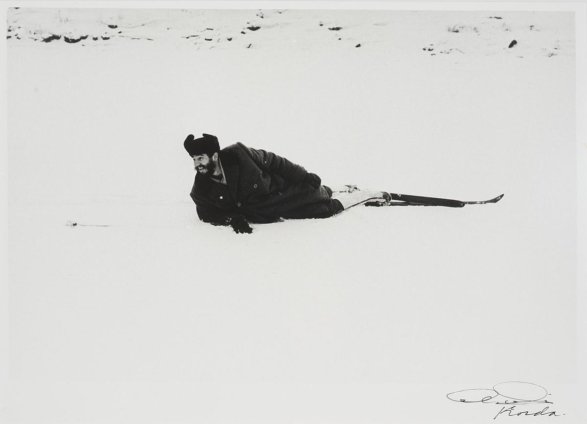 Fidel Castrorekin bidaia ugari egin zituen Kordak; Errusian egindako argazki bat da honako hau. ©ALBERTO KORDA