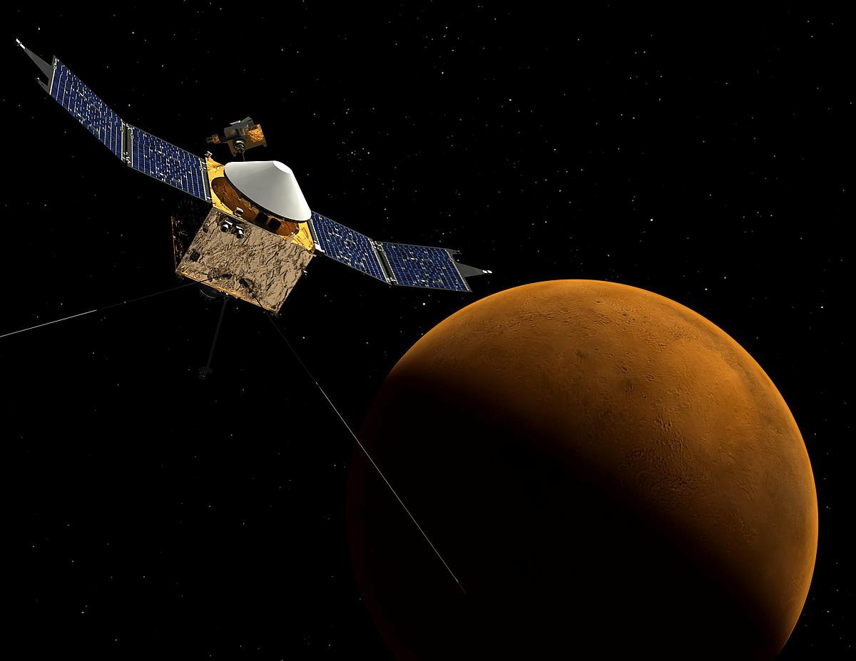 Marte espaziotik ikusita, 2014ko irailaren 22ko irudi batean.