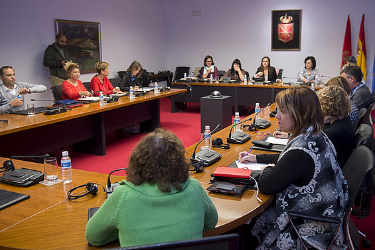 Gobernuz kanpoko erakundeetako ordezkarien agerraldia, atzo. ©IÑIGO URIZ / ARP