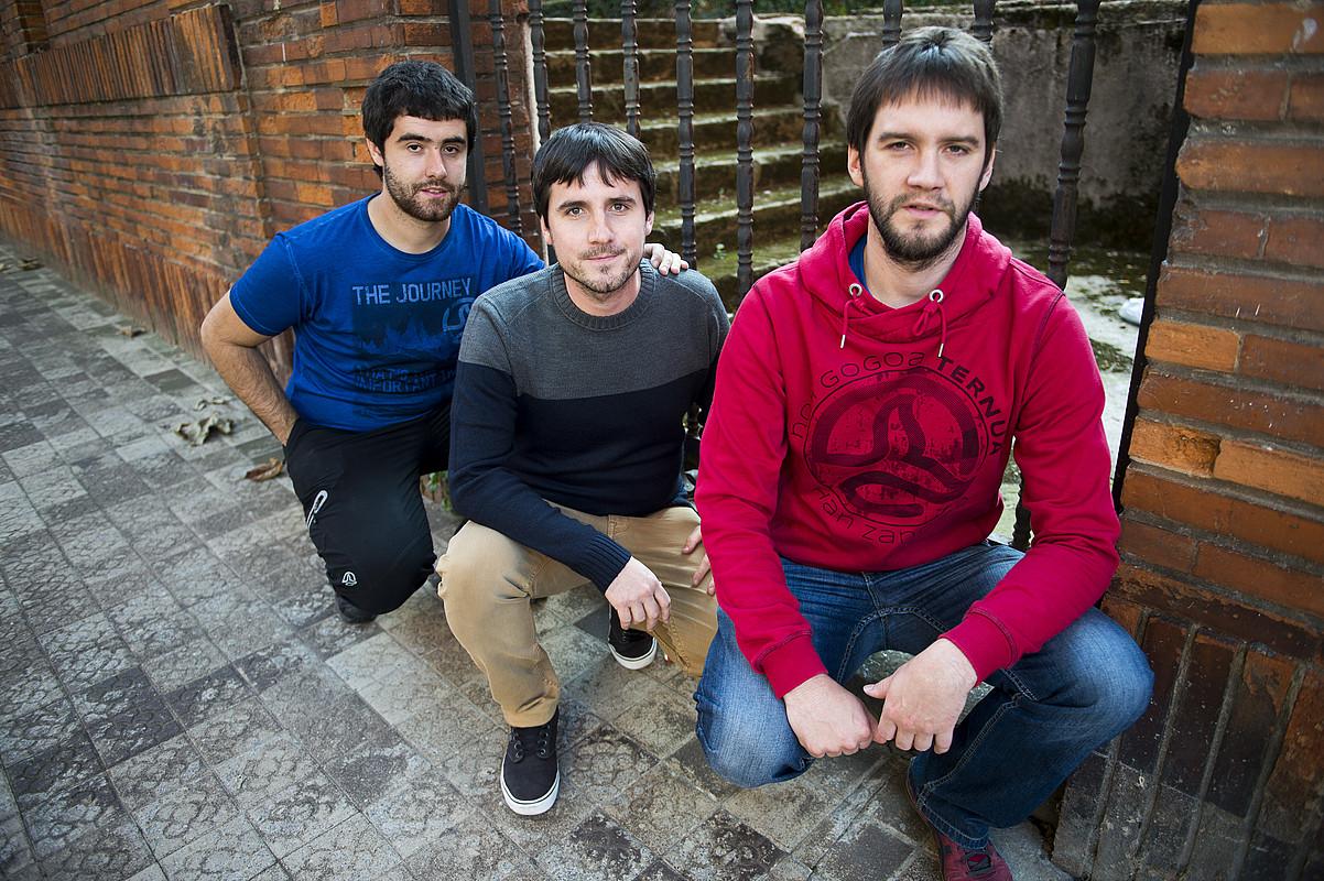 Larregi taldeko kideak, Bilbon, diskoaren aurkezpen ekitaldian. / MARISOL RAMIREZ / ARGAZKI PRESS