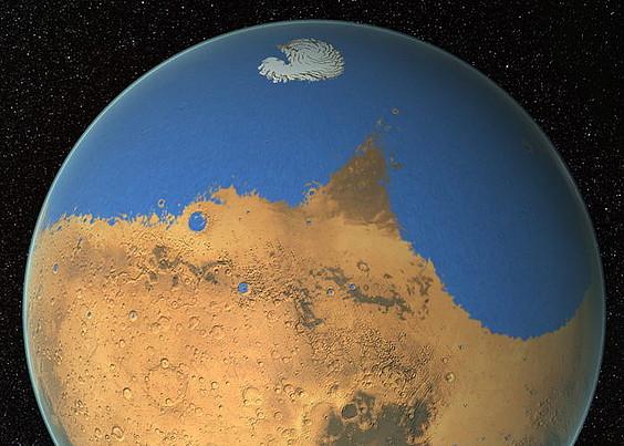 <em>Mars Pathfinder</em> ibilgailuak ateratako irudia.