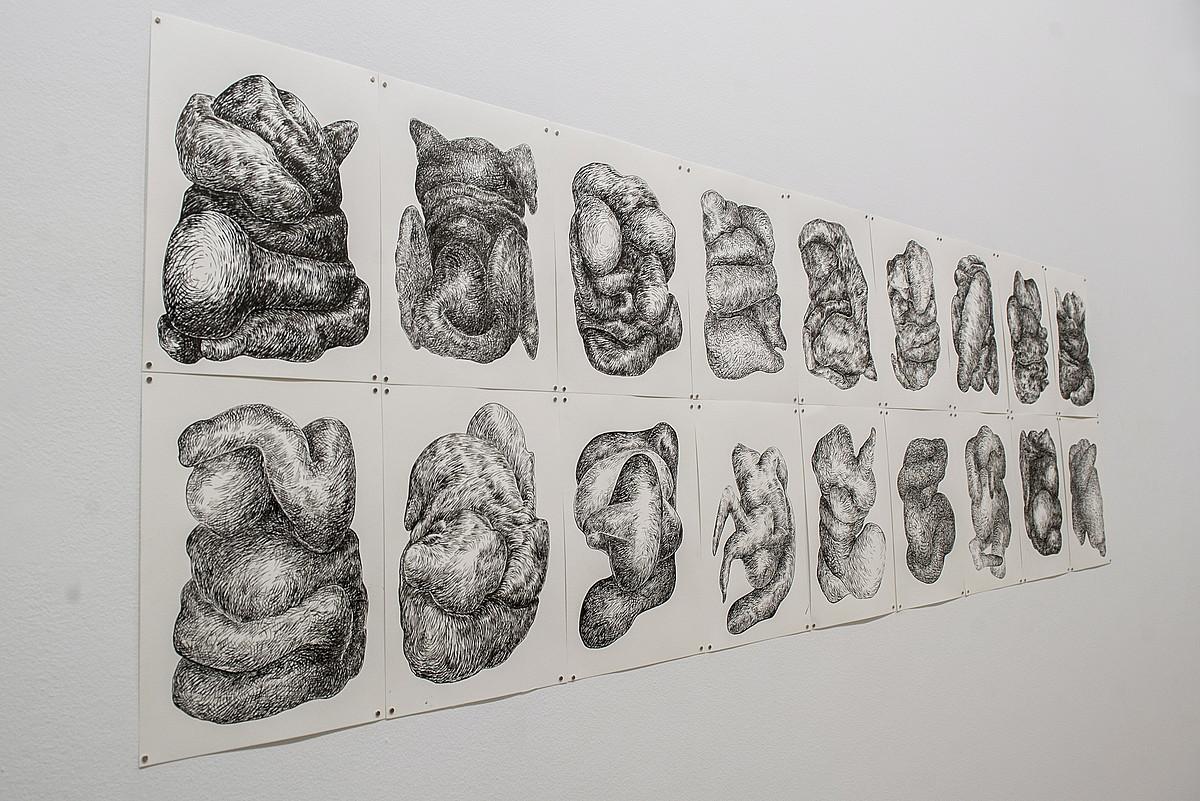 Koldo Mitxelena kulturunean Gipuzkoako hainbat artistaren lanak daude ikusgai. ©GORKA RUBIO / ARGAZKI PRESS