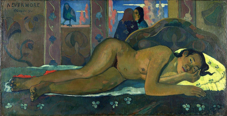 Paul Gauguinen <em>Nevermore O Tahiti</em> lana. Polinesiako emakumeak maiz marraztu zituen margolari frantsesak. ©- / EFE
