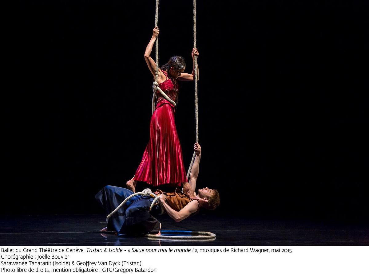 Genevako Antzoki Handiko balletaren <em>Tristan eta Isolda</em>. ©GTG / GREGORY BATARDON