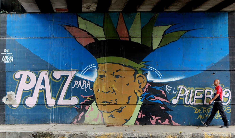 Bakeari buruzko mural bat, Calin. ©CHRISTIAN ESCOBAR MORA / EFE