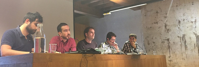 Ezkerretik eskuinera, Hedoi Etxarte, Iñaki Soto, Ivan Gimenez, Joxerra Senar eta Ibai Fernandez.