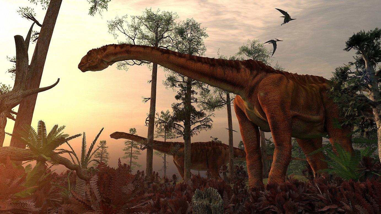 <em>Turiasaurus</em> bikote baten irudikapena.