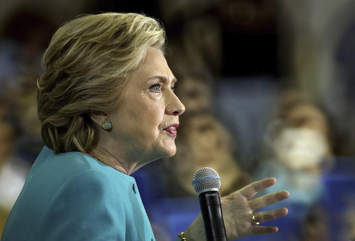Hillary Rodham Clinton hautagai demokrata. / CRISTOBAL HERRERA / EFE