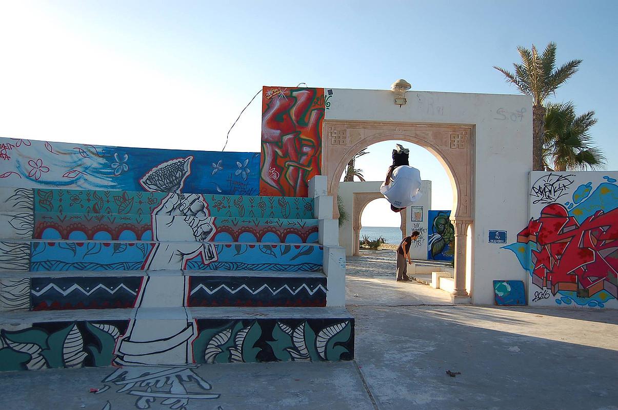 Jared, grafitien uhartea, Tunisian.Artisten bilgune izan ohi da. ©UMEMA BUASIDA