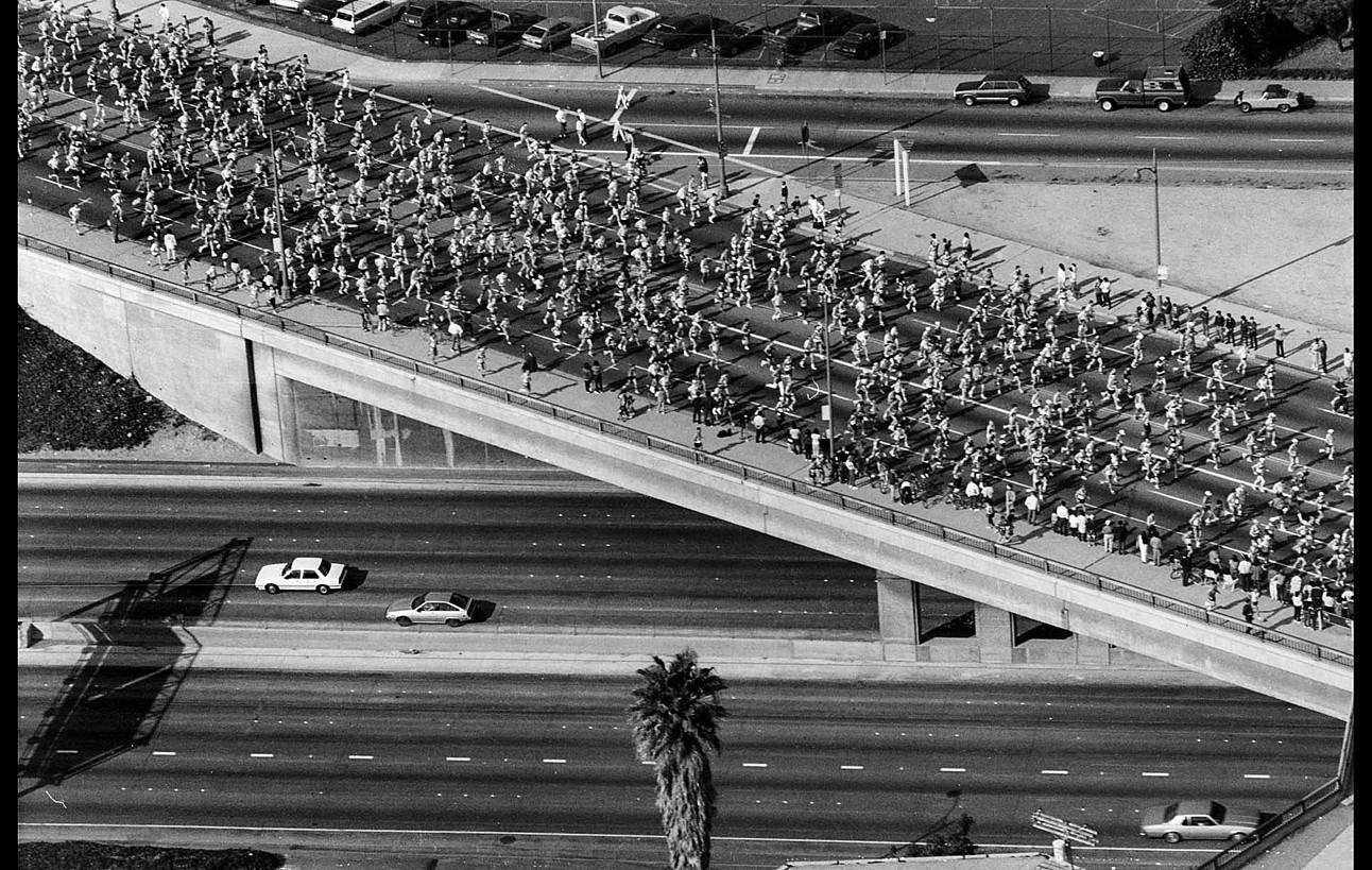 Los Angelesko maratoia, 1987. ©LORI SHEPLER