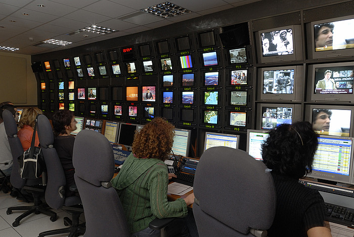 Kataluniako telebista publikoaren errealizazio gela bat. ©CCMA