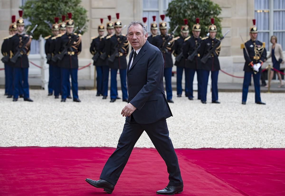 François Bayrou, atzo, Justizia ministro izendatu berri, Parisko Eliseora iritsi zenean. ©IAN LANGSDON / EFE