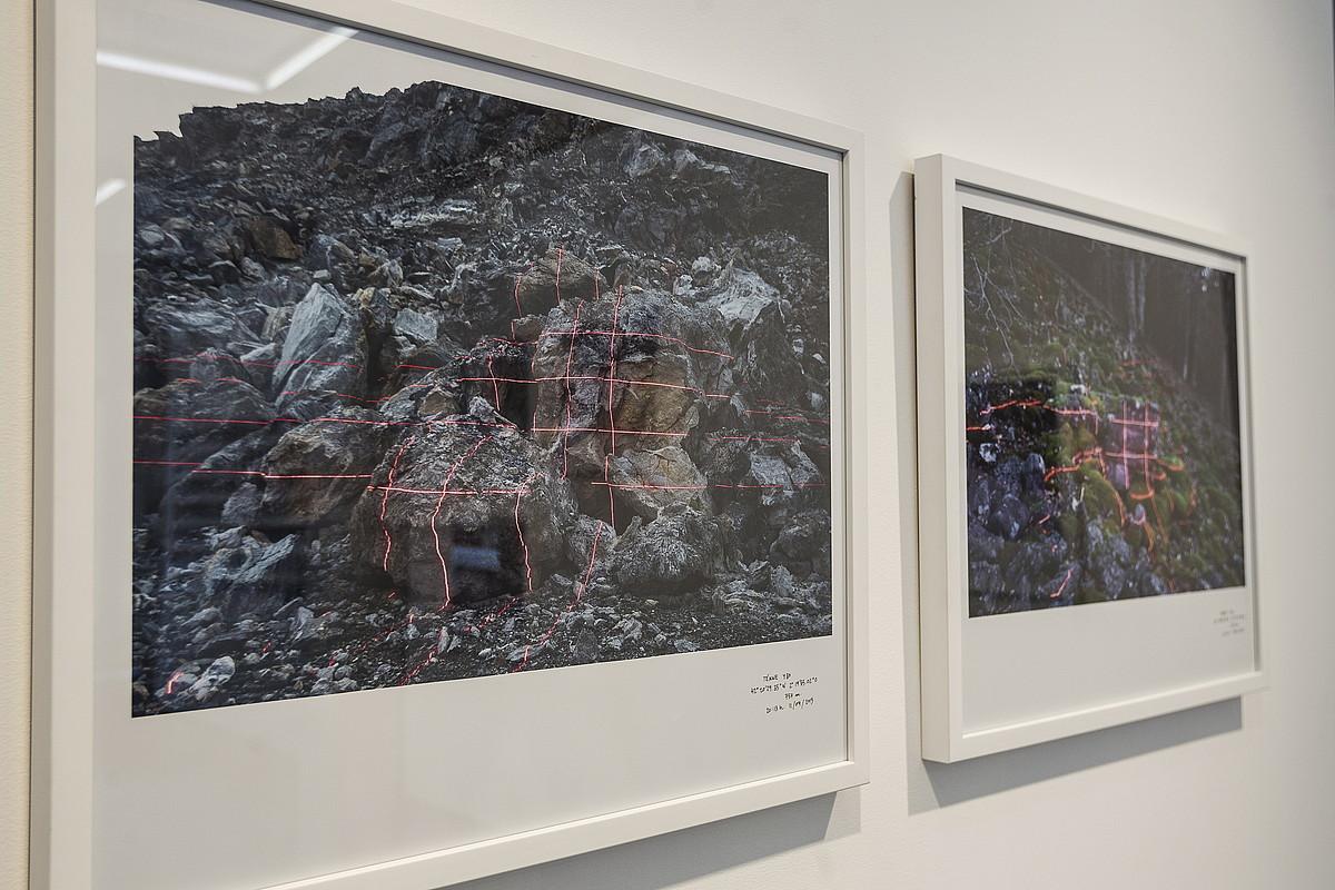 Julio Sarramianen <em>Tékne</em> erakusketaren obra batzuk, Bilboko Aldama Fabre galerian.