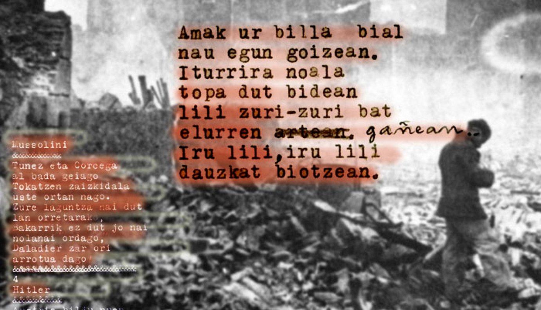 36ko gerragatik erbestera jo zutenetako zenbaitek <em>Euzko-Deya</em>-rako idatzi zituzten bere aleak.