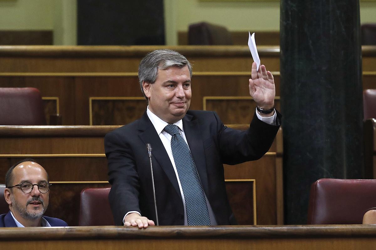 Jordi Xucla PDECateko diputatua, herenegun, Espainiako Kongresuan. ©JUAN CARLOS HIDALGO / EFE