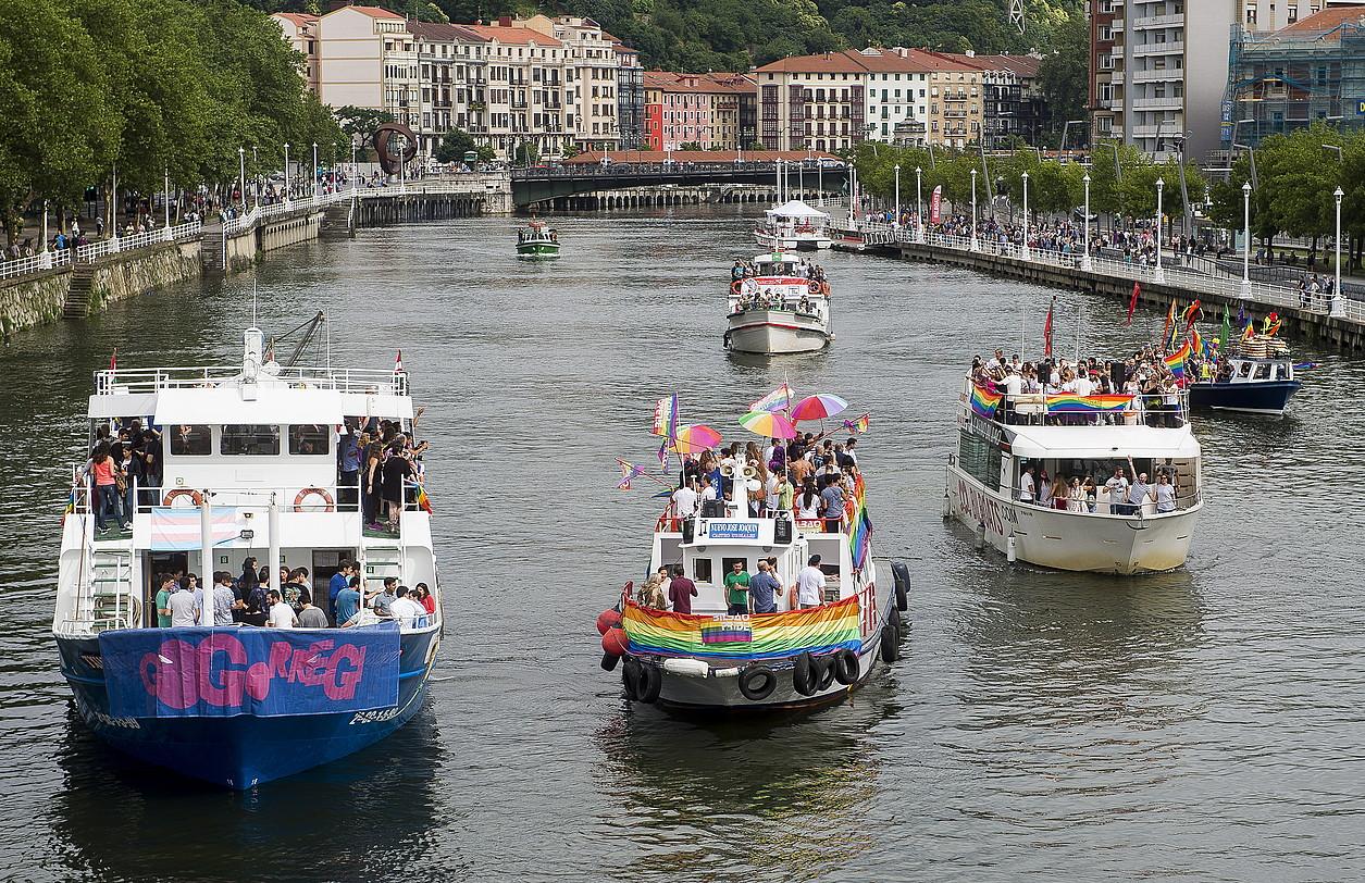 Bilbao Bizkaia Pride jaialdiaren atzoko irudi bat.