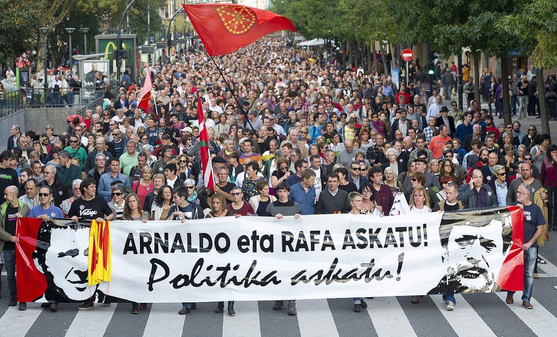 Rafa Diez aske uzteko eskatzeko protesta bat. / J.C. RUIZ / ARP