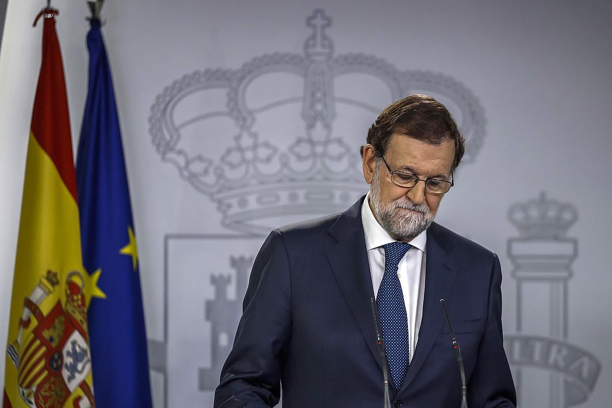 Mariano Rajoy Espainiako presidentea, atzo, Moncloako jauregian. / MARIANO RAJOY / EFE