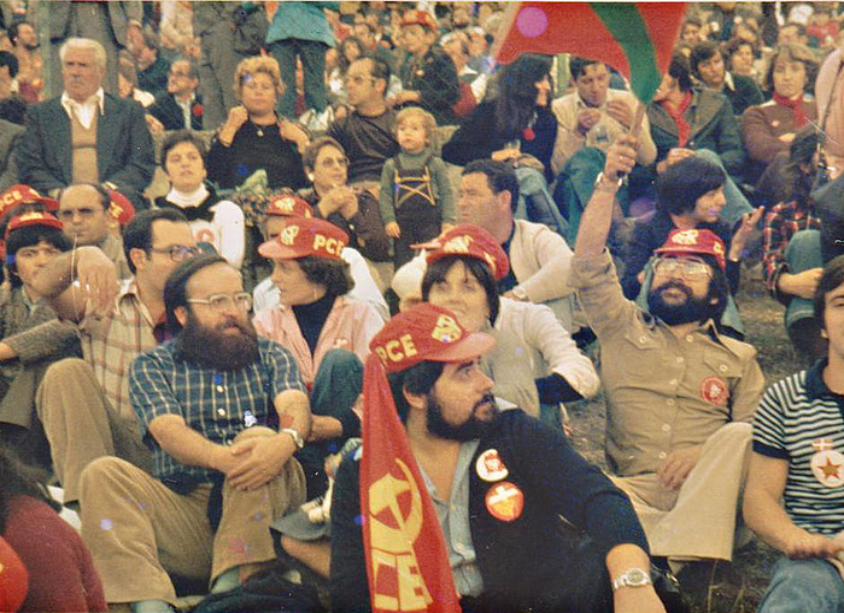 Euskal komunistak PCEren lehenengo jaialdian, Madrilen, 1977ko urrian.