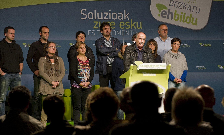 2012ko Eusko Legebiltzarreko bozetarako EH Bilduren ekitaldia.