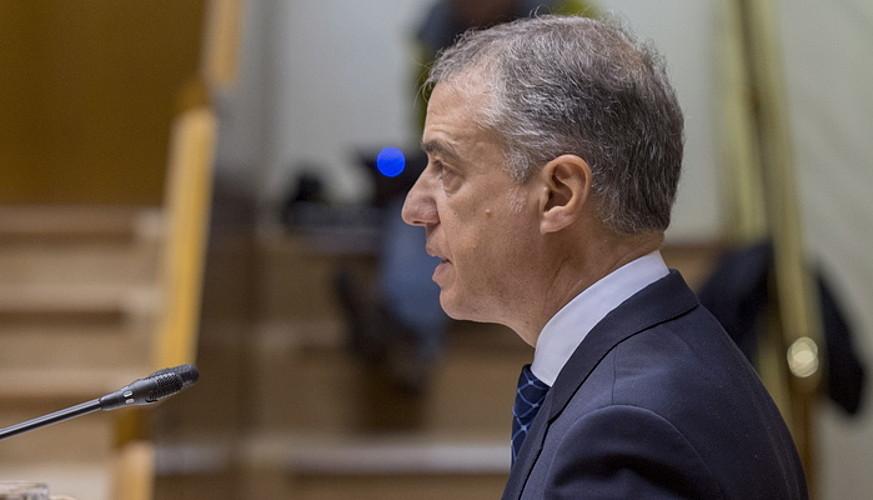 Iñigo Urkullu lehendakaria, atzoko saioan. ©JUANAN RUIZ/ ARGAZKI PRESS