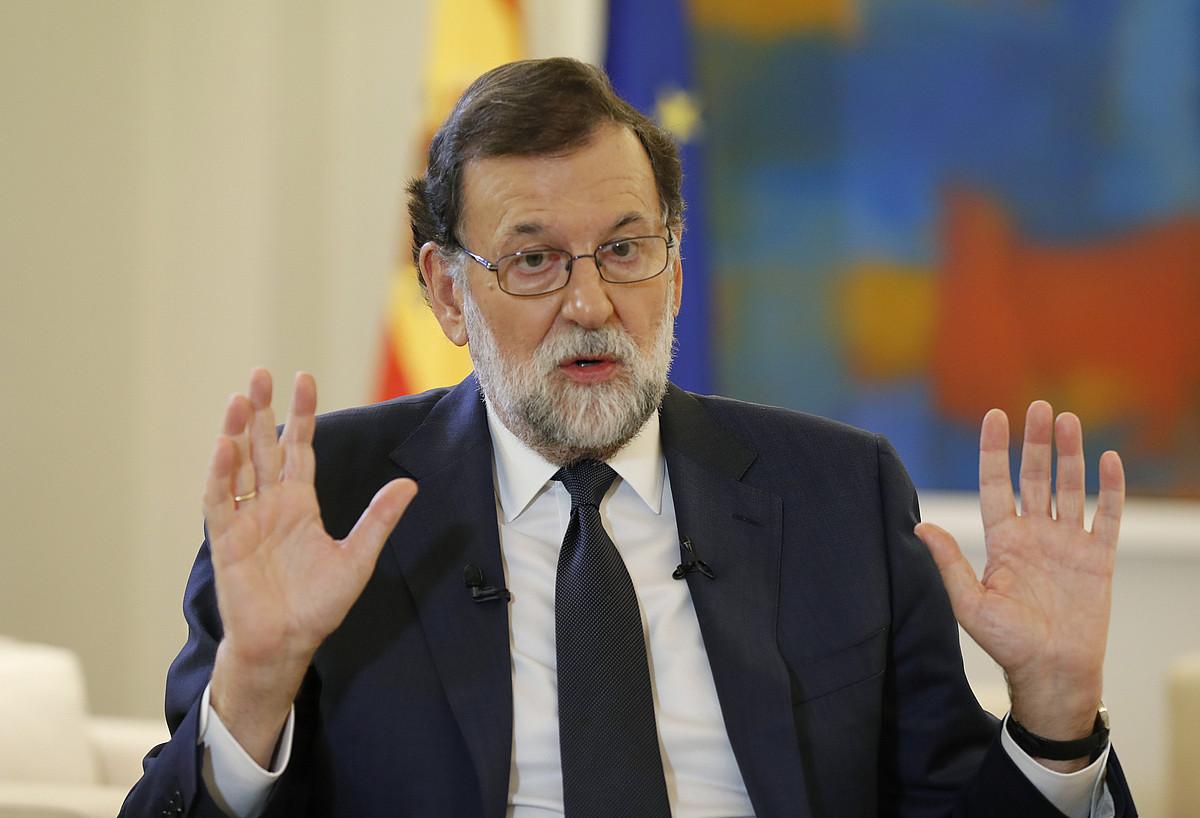 Mariano Rajoy Espainiako Gobernuko presidentea, Efe berri agentziak eginiko elkarrizketa batean. / ANGEL DIAZ / EFE
