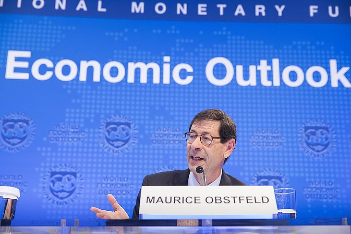 Maurice Obstfeld NDF Nazioarteko Diru Funtseko ekonomialari kontseilaria. ©STEPHEN JAFFE / EFE