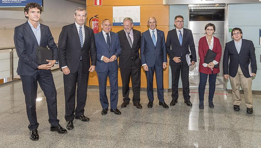 Finantzen Euskal Kontseilua: Unai Rementeria, Markel Olano, Ramiro Gonzalez, Pedro Azpiazu, Josu Erkoreka eta Eudeleko ordezkariak.