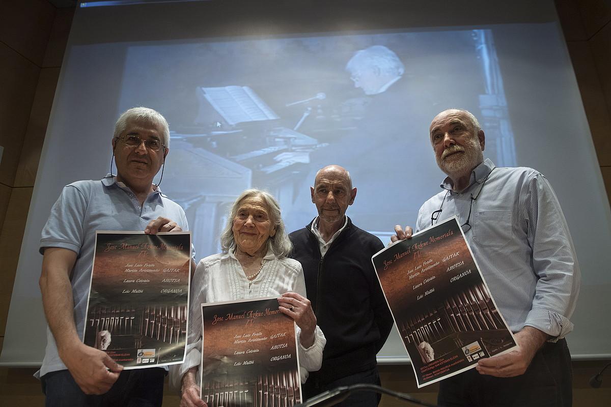 Landart, Lopez, Mendizabal eta Beltran, ezker-eskuin. ©JON URBE / ARGAZKI PRESS