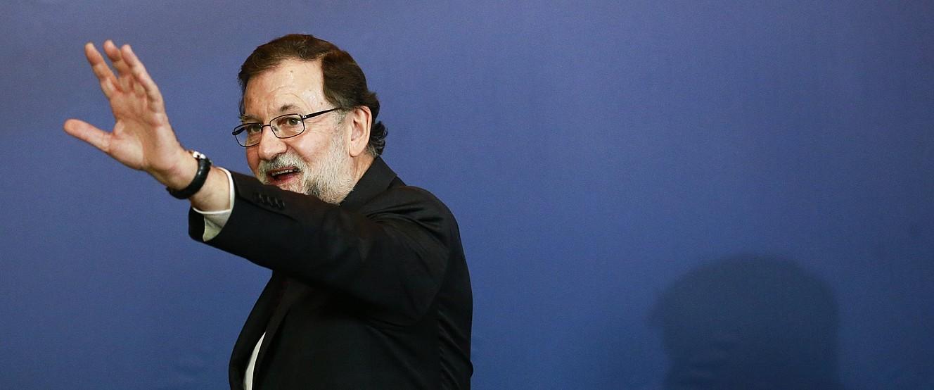 Mariano Rajoy, herenegun Bruselan. / OLIVIER HOSLET / EFE